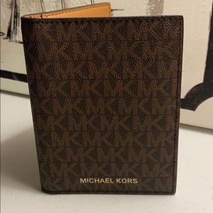 Michael Koor Jet Set Passport Wallet